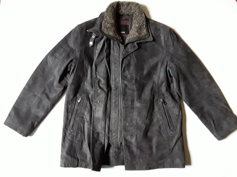 Tеплая  кожаная куртка