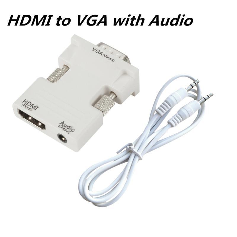 Конвертер HDMI в VGA адаптер переходник с аудио поддержкой 1080P