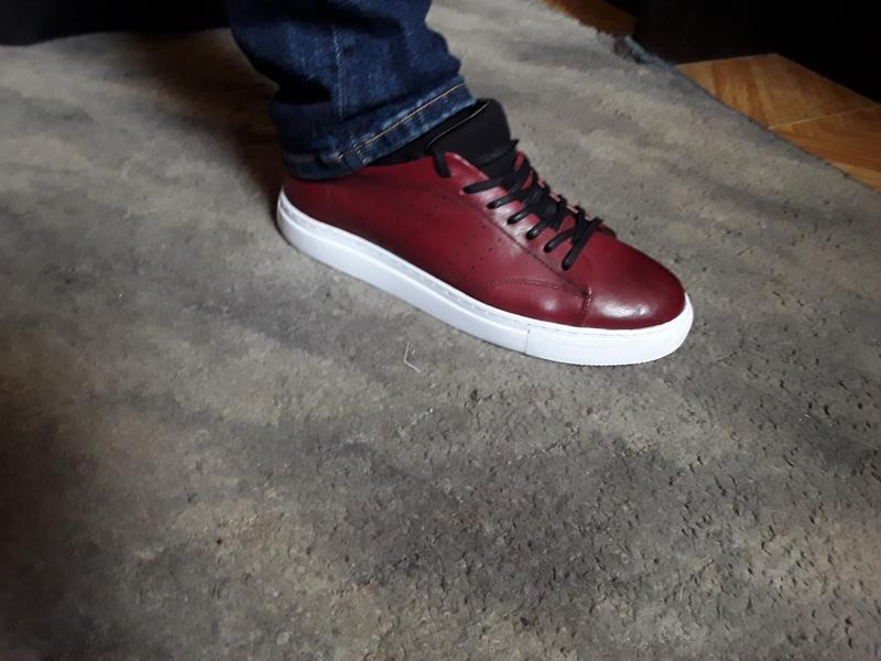 Кожаные туфли  кеды слипоны