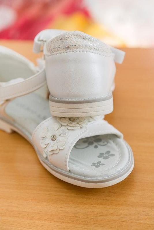 Босоножки р.31-36 белые, сандалии, сандали, босаножки, босонiжки - Фото 3