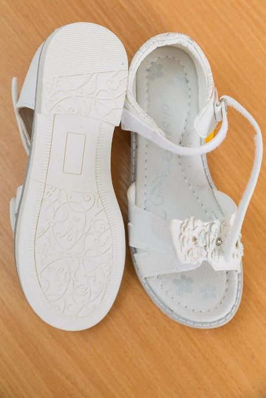 Босоножки р.31-36 белые, сандалии, сандали, босаножки, босонiжки - Фото 5