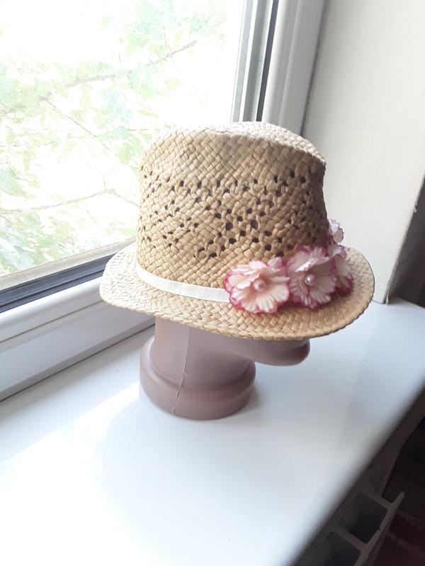 Летняя шляпка итальянка с цветами