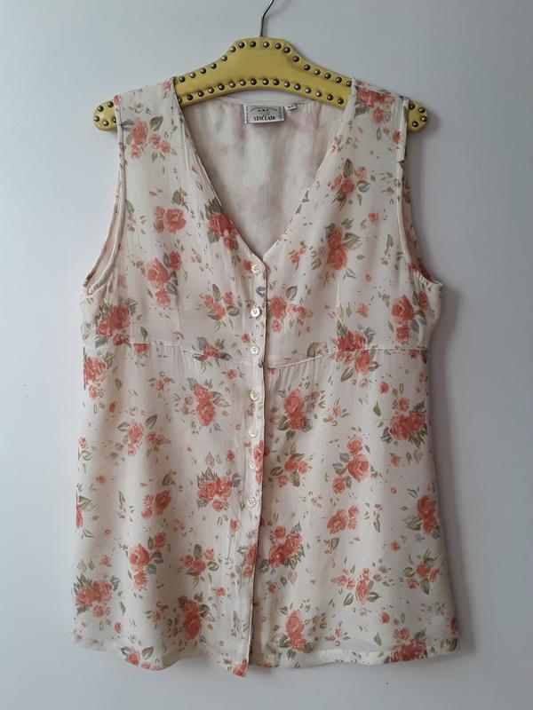 Блузка в цветочный принт / индия