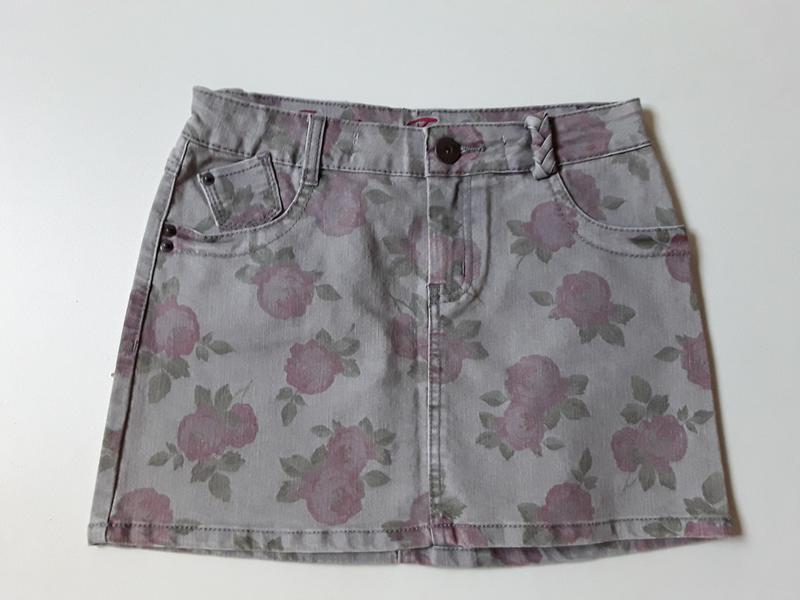 Джинсовая юбка в цветочный принт  от review