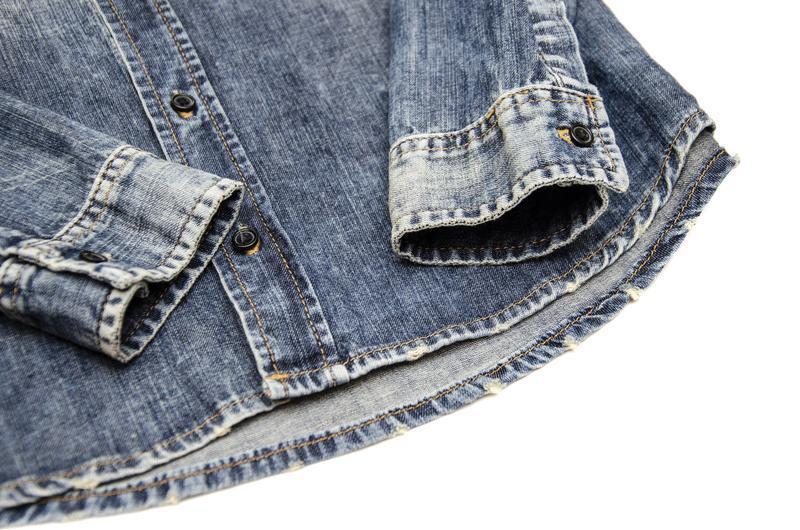 Рубашка джинсовая ltb. размер s - Фото 2