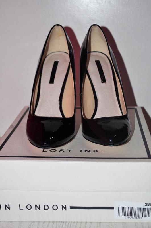 Стильные лаковые туфли lost ink из англии - Фото 5