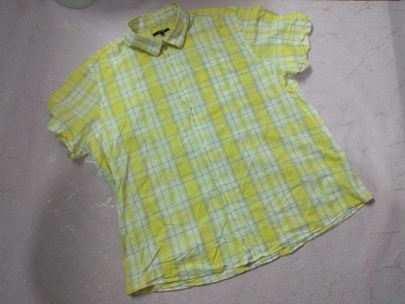 Рубашка мужская летняя с коротким рукавом большого размера хло...