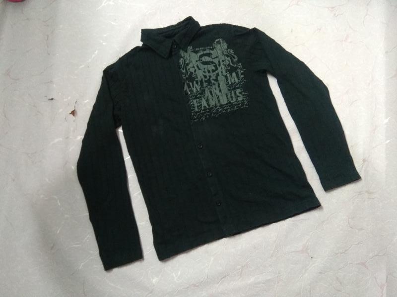 Рубашка кофта трикотаж хлопок new yorker - Фото 3