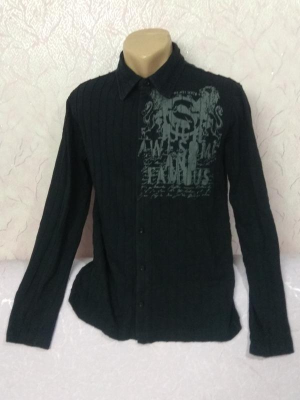 Рубашка кофта трикотаж хлопок new yorker - Фото 5