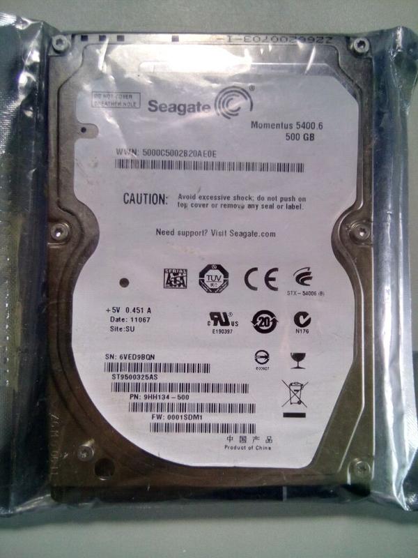 Жесткий диск HDD Seagate 500Gb 2,5