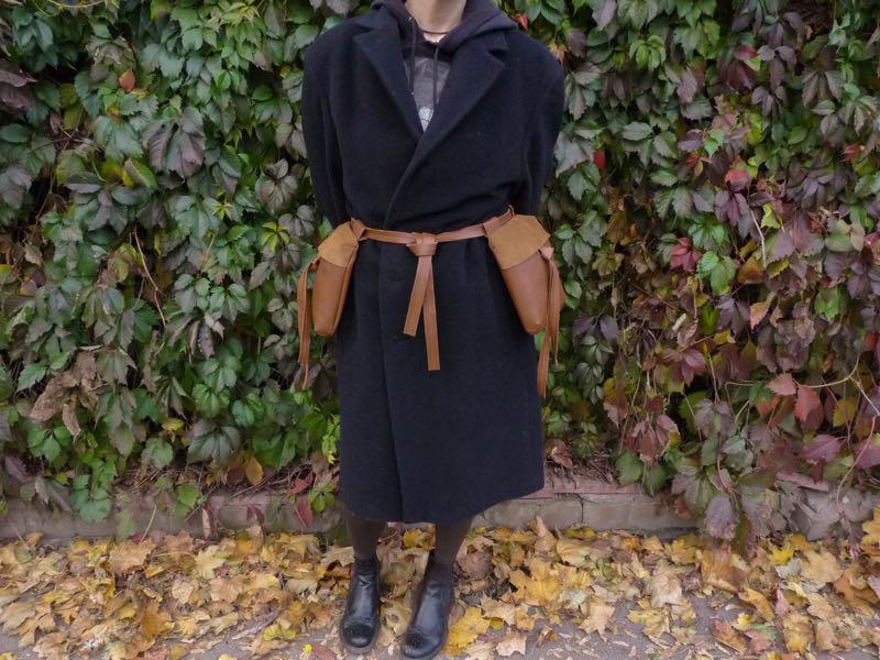 Løvinne | Пояс с карманами. Женский пояс. Кожаный пояс. Handmade
