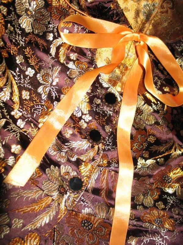 Жакардовый укороченый жакет с баской - Фото 5