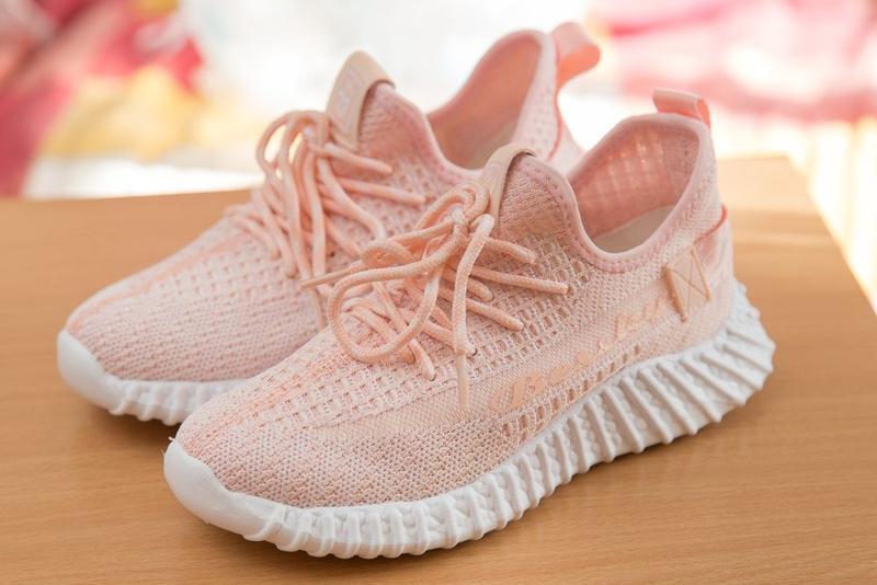 Кроссовки на девочку, кросы, цвет розовый с белым р. 32-37