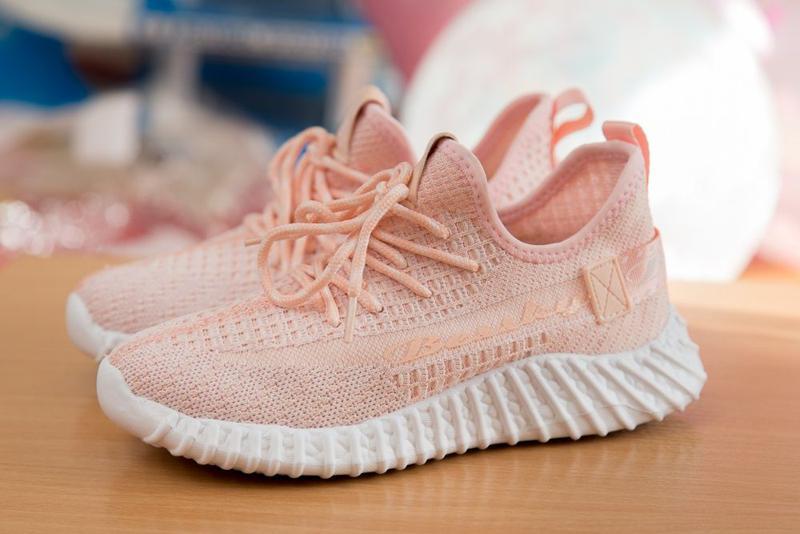 Кроссовки на девочку, кросы, цвет розовый с белым р. 32-37 - Фото 3