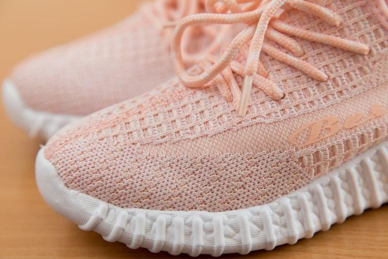 Кроссовки на девочку, кросы, цвет розовый с белым р. 32-37 - Фото 7