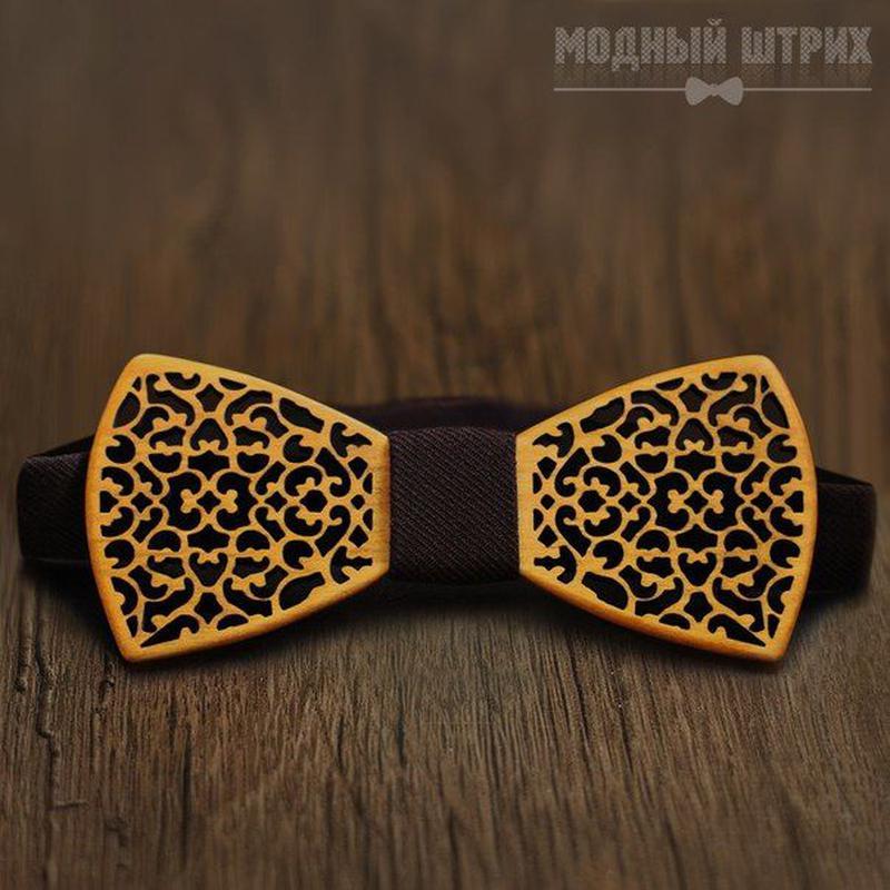 Детская деревянная галстук бабочка