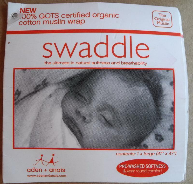 """Пеленка aden+anais """"swaddle"""" (оригинал) органический муслин. н..."""