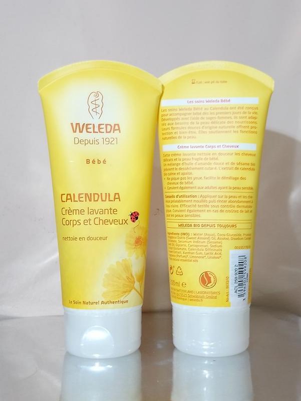 Шампунь-гель для тела и волос с рождения weleda calendula