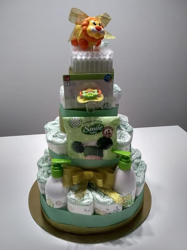 Торт З Памперсів Торт с подгузников Торт з підгузників