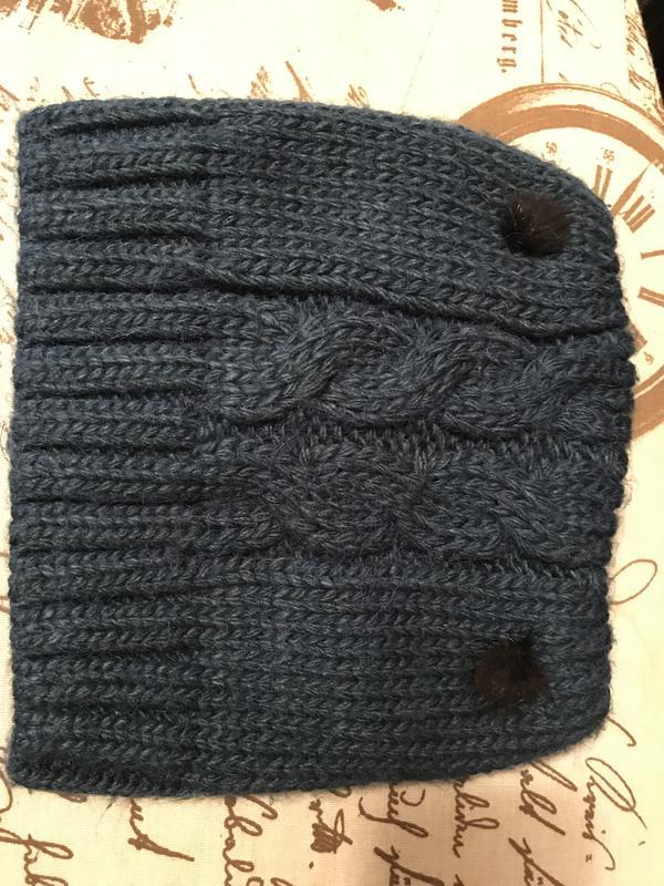 Женская шапка с ушками - Фото 3