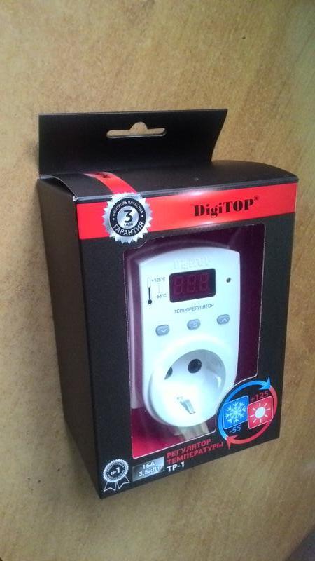 Розеточный терморегулятор на 3,5 кВт для обогревателей и инкубато - Фото 2