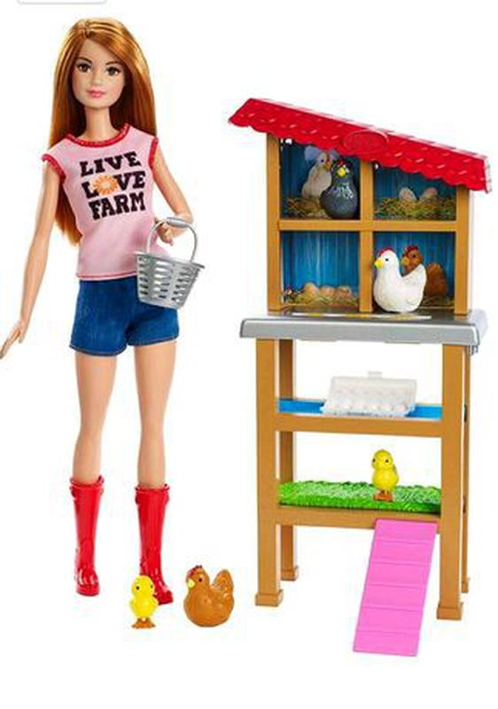 Набір Барбі куряча ферма Barbie Chicken Farmer Doll & Playset