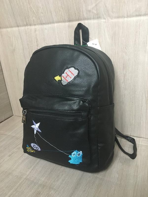 Рюкзак рюкзачек рюкзачок трендовые мини рюкзак кожаный pu кожа - Фото 2