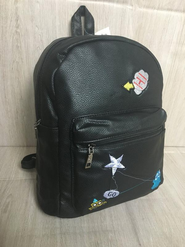 Рюкзак рюкзачек рюкзачок трендовые мини рюкзак кожаный pu кожа - Фото 4