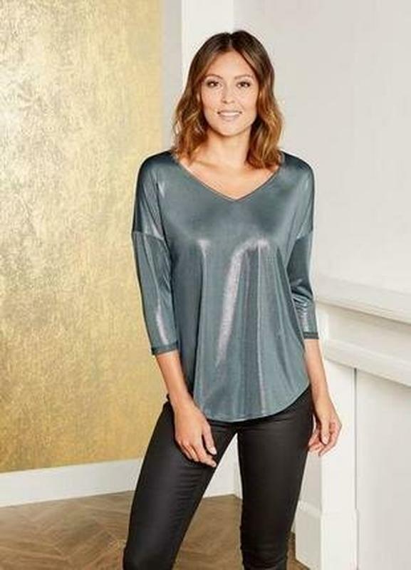 Нарядная блестящая женская блуза блузка кофта esmara германия