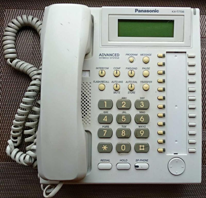 Panasonic KX-T7735UA, системный телефон. не рабочий