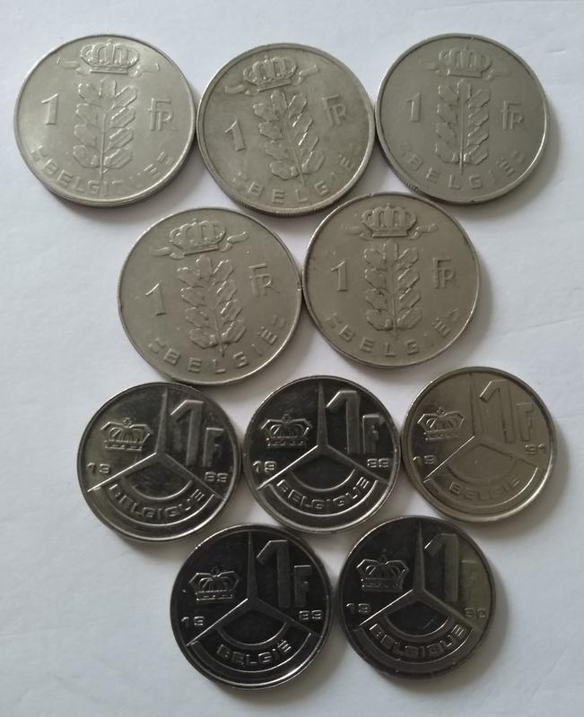 Монети Бельгії - Фото 2