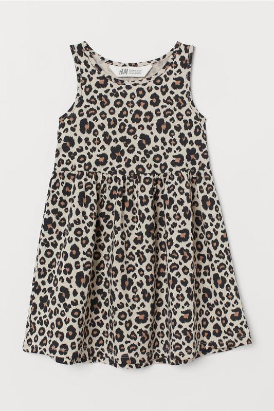 Платье в модный принт на 2-4 года h&m. новое