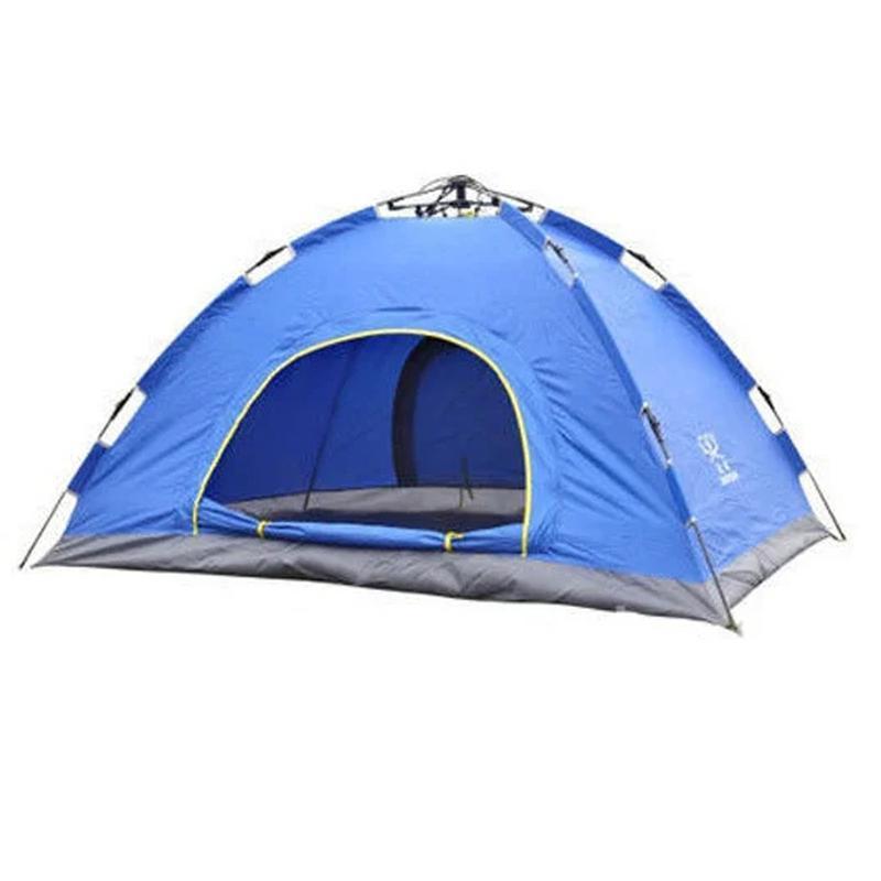 Палатка туристическая двухместная автомат синяя SKL11-239423 - Фото 2