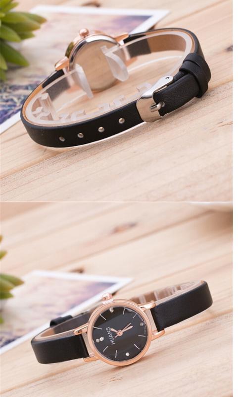 Элегантные черные наручные часы - Фото 2