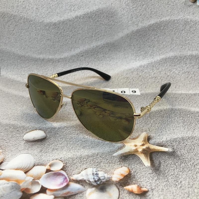 Солнцезащитные очки авиаторы с желто-коричневыми линзами к. 2109 - Фото 3