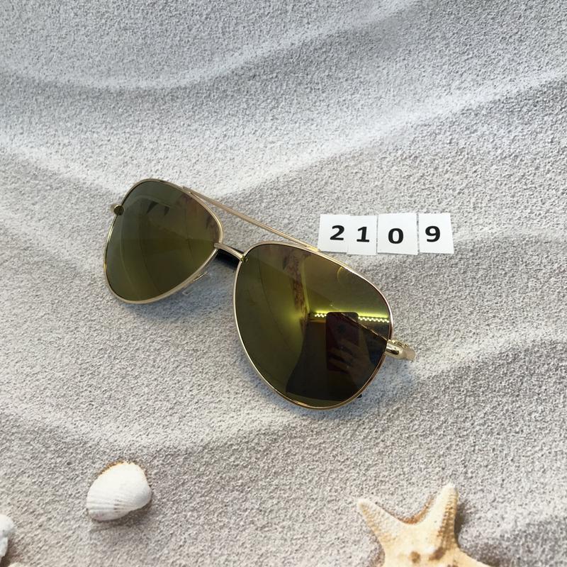 Солнцезащитные очки авиаторы с желто-коричневыми линзами к. 2109 - Фото 4