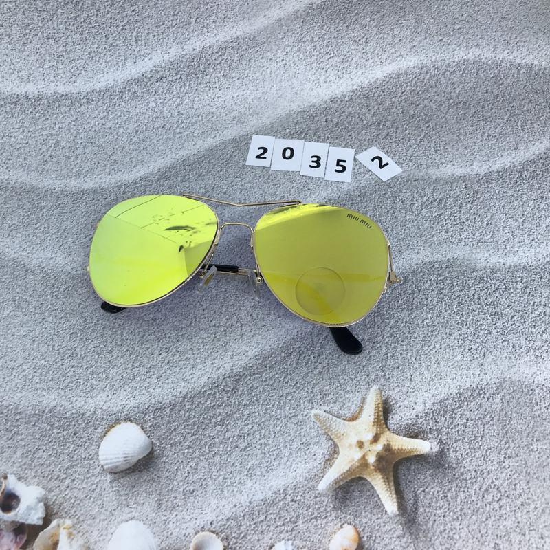 Солнцезащитные очки  - голубые и желтые желтый  к. 2035 2