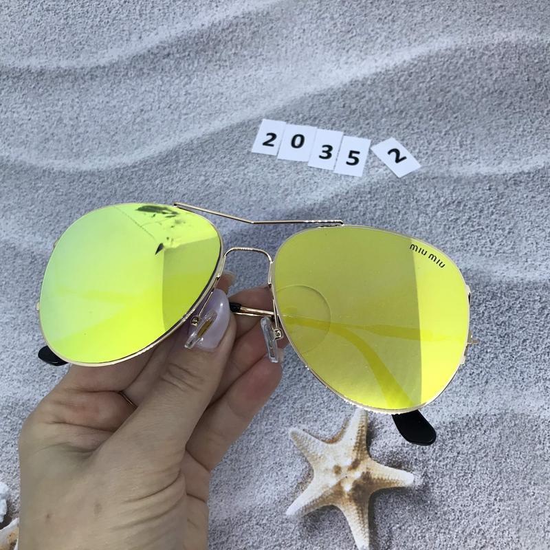Солнцезащитные очки  - голубые и желтые желтый  к. 2035 2 - Фото 2