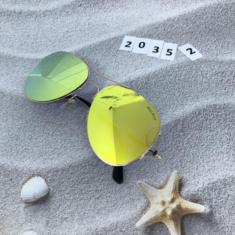 Солнцезащитные очки  - голубые и желтые желтый  к. 2035 2 - Фото 3