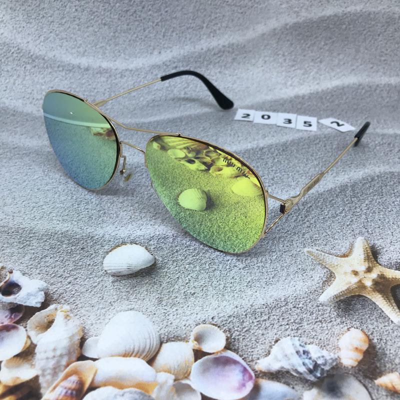 Солнцезащитные очки  - голубые и желтые желтый  к. 2035 2 - Фото 4