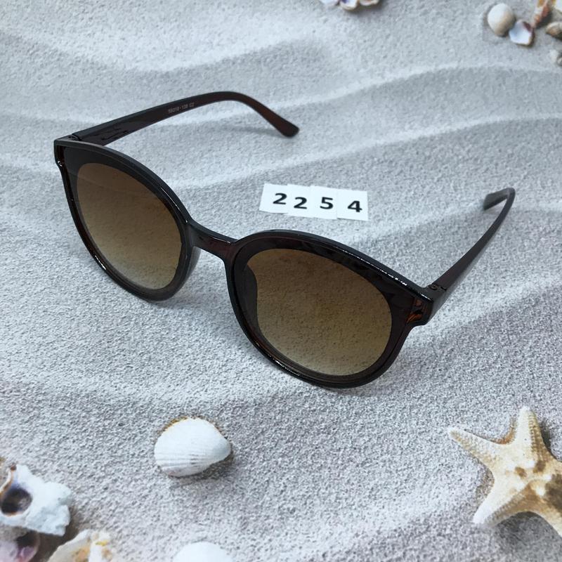 Солнцезащитные очки коричневые  к. 2254 - Фото 2