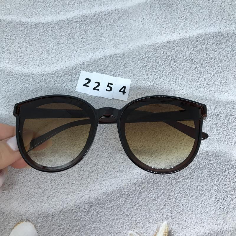 Солнцезащитные очки коричневые  к. 2254 - Фото 3