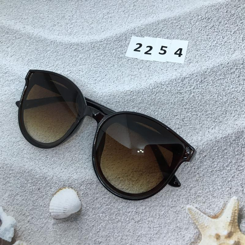 Солнцезащитные очки коричневые  к. 2254 - Фото 4