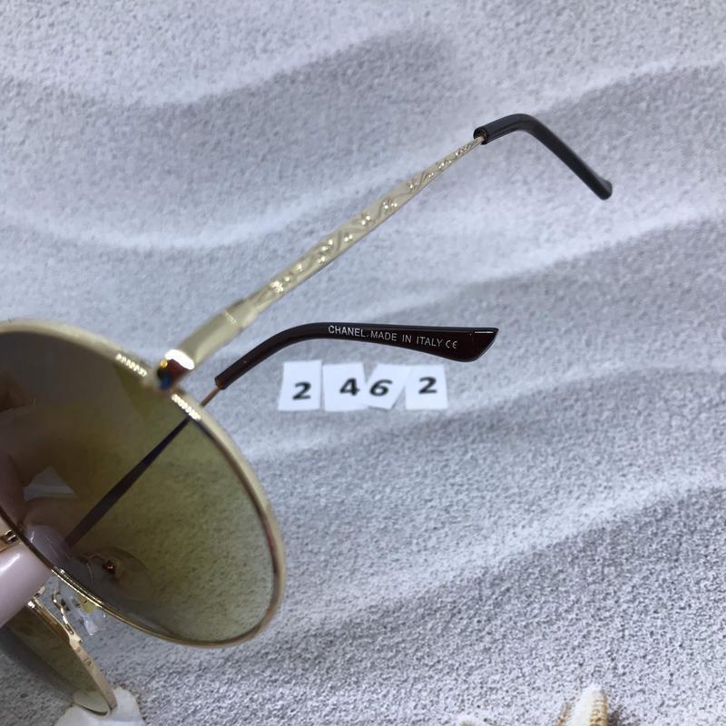 Круглые коричневые очки в золотой оправе  к. 2462 - Фото 4