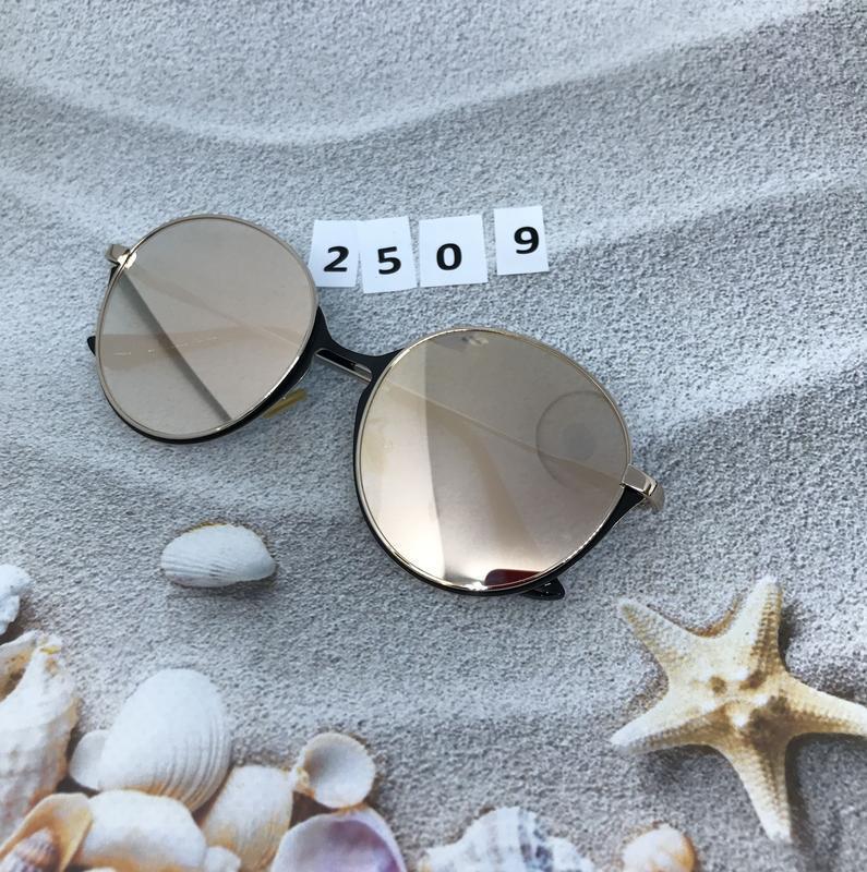 Зеркальные очки, цвет пудра к. 2509 - Фото 3
