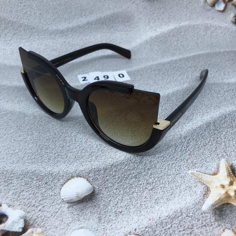 Стильные коричневые очки к. 2490 - Фото 2