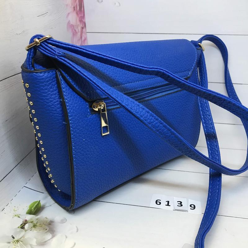 Синяя женская сумка  к. 6139 - Фото 3