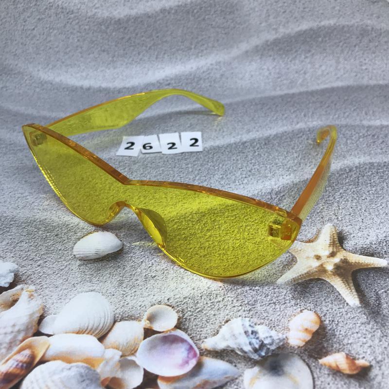 Стильные желтые очки к. 2622 - Фото 2