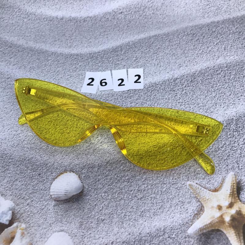 Стильные желтые очки к. 2622 - Фото 4