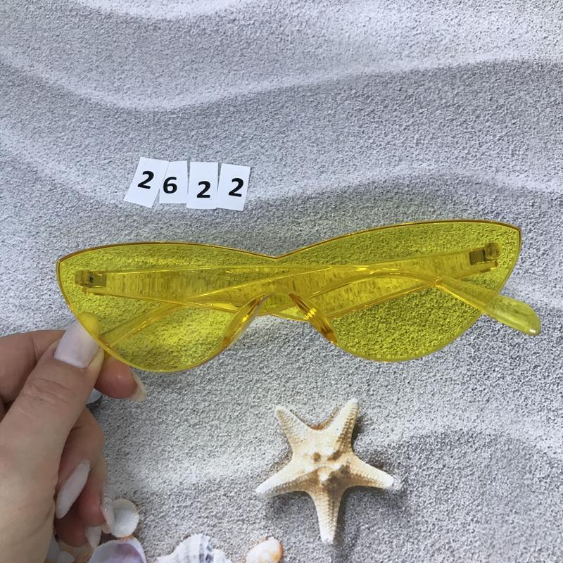 Стильные желтые очки к. 2622 - Фото 5